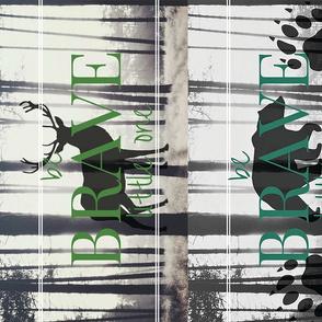 be BRAVE little one // burp cloths set of 8 per yard