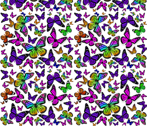 Butterfly Flourish fabric by ladymoondesigns on Spoonflower - custom fabric