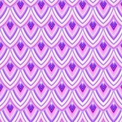 Purple Scales abstract