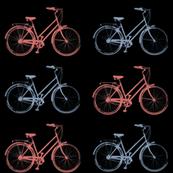 Vintage Bikes - Red/Blue