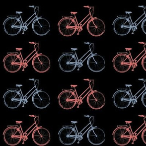 Red & Blue Antique Bikes // Black
