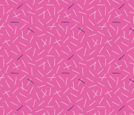 Hairpins | Bright Pink fabric by elizabethattwood on Spoonflower - custom fabric