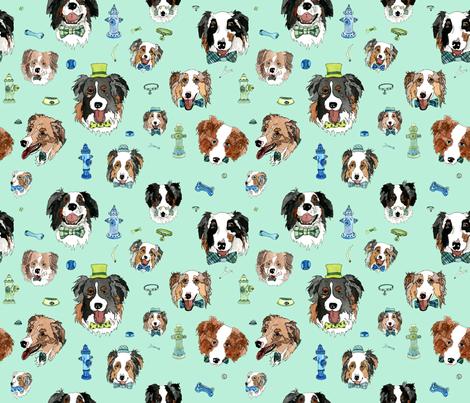 Love Australian Shepherds fabric by landfish on Spoonflower - custom fabric