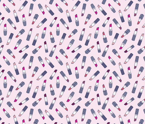 Lipsticks   Pink fabric by elizabethattwood on Spoonflower - custom fabric