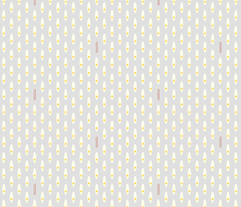 bacon & eggs fabric by foggenhopper on Spoonflower - custom fabric