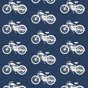 Vintage Motorbikes // Navy
