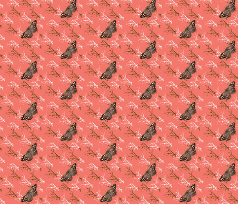 Woodland Peach fabric by redthanet on Spoonflower - custom fabric