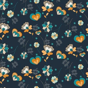 Flowers and Hearts