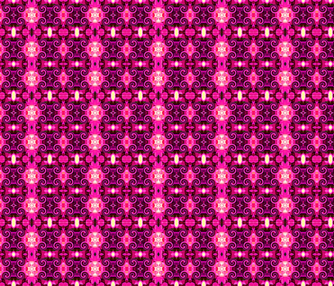 Pink Damask fabric by stephaniecolecreations on Spoonflower - custom fabric