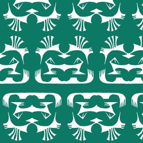 Island Tribal Print 2 Green