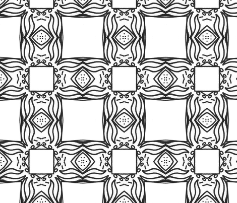 Boxed fabric by edjeanette on Spoonflower - custom fabric