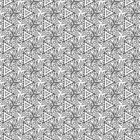 Trippy Triangles fabric by edjeanette on Spoonflower - custom fabric