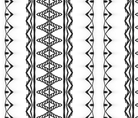 Pointed fabric by edjeanette on Spoonflower - custom fabric