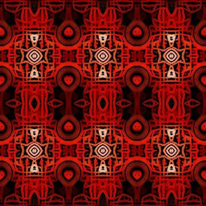 Crimson Tribal Batik