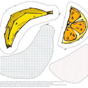 Banana & Orange Mini Cut & Sew