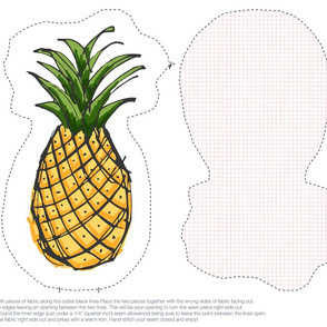 Pineapple Plush Cut & Sew