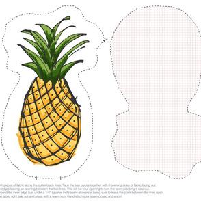 Pineapple Plush Cut & Sew
