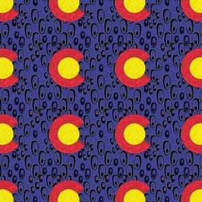 2x2 Phish bubbles blue Background Colorado Flag