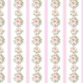 Genoveva  Floral Stripe