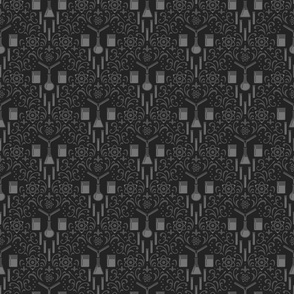 Mad Science Damask (Dark)