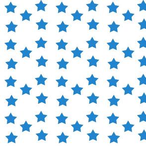 Blue on White Stars