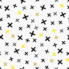 Cross (yellow and gray)