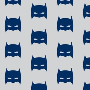 Superhero Bat Mask Blue and Gray