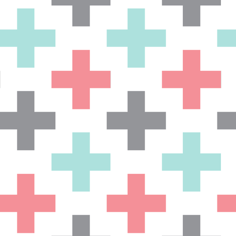 multi cross || arden collection fabric by littlearrowdesign on Spoonflower - custom fabric