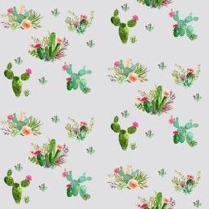 Mini Western Flowers in Gray