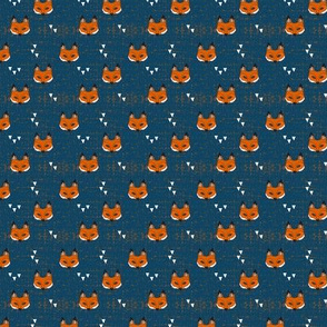 (micro print) fox mask