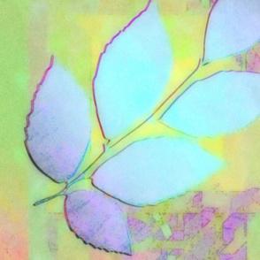 Leaves in Shimmer Lavender