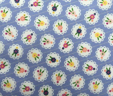 Wedgewood* (Ultraviolet) || flowers flower floral doily doilies vintage shabby chic garden lattice polka dots nature leaves garden pastel