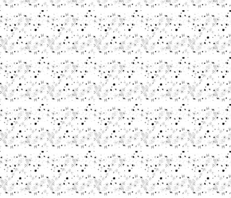 White Mixed Shapes fabric by hleemessina on Spoonflower - custom fabric