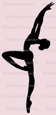 Ballet Dancers on Pink (large)