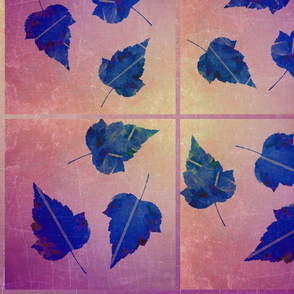 Leaves of Blue on Sunset Ombre