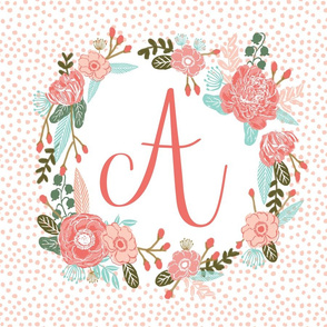 a monogram personalized flowers florals painted flowers girls sweet baby nursery