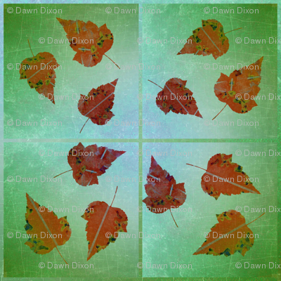 Leaves of Rust on Green Ombre
