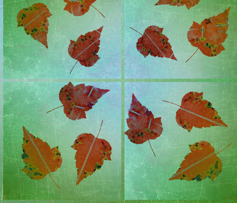 Leaves of Rust on Green Ombre fabric by desertattitude on Spoonflower - custom fabric