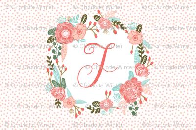 d monogram personalized flowers florals painted flowers girls sweet baby nursery