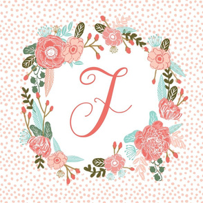 d monogram personalized flowers florals painted flowers girls sweet baby nursery