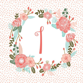 i monogram personalized flowers florals painted flowers girls sweet baby nursery