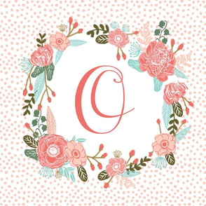 o monogram personalized flowers florals painted flowers girls sweet baby nursery