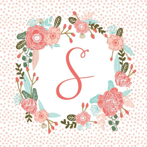 s monogram personalized flowers florals painted flowers girls sweet baby nursery