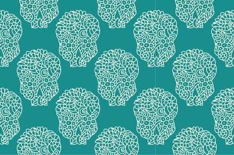 Sugar skulls fabric by marafribus on Spoonflower - custom fabric