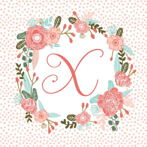 x monogram personalized flowers florals painted flowers girls sweet baby nursery