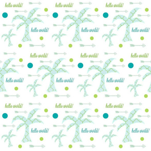 Palm Arrow Dots  -mint julep hello world 3