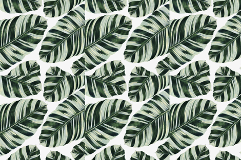 Tropical Foliage Napkins fabric by seventhbixel on Spoonflower - custom fabric
