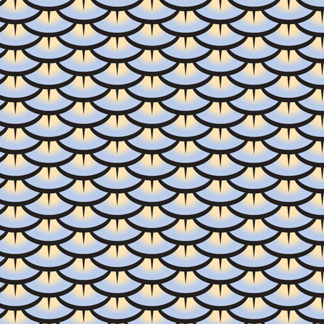 Quail_Feather_Pattern blue fabric by claire-gaffney on Spoonflower - custom fabric