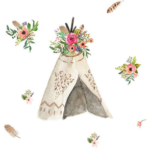 Floral Dreams Deer Teepee