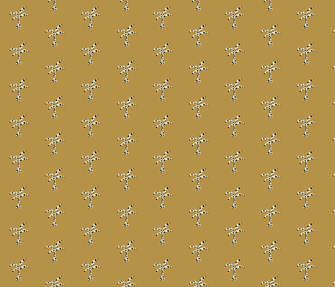 Palm Groove Prep - saddle cheetah fabric by drapestudio on Spoonflower - custom fabric